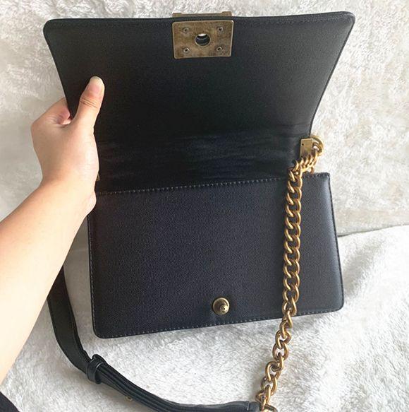 Klassische Flap-Ketten-Beutel-Beutel-Frauen-Plaid-Kettenbeutel-Handtasche aus echtem Leder-Geldbeutel Crossbody Schulter Messenger Bag 25cm
