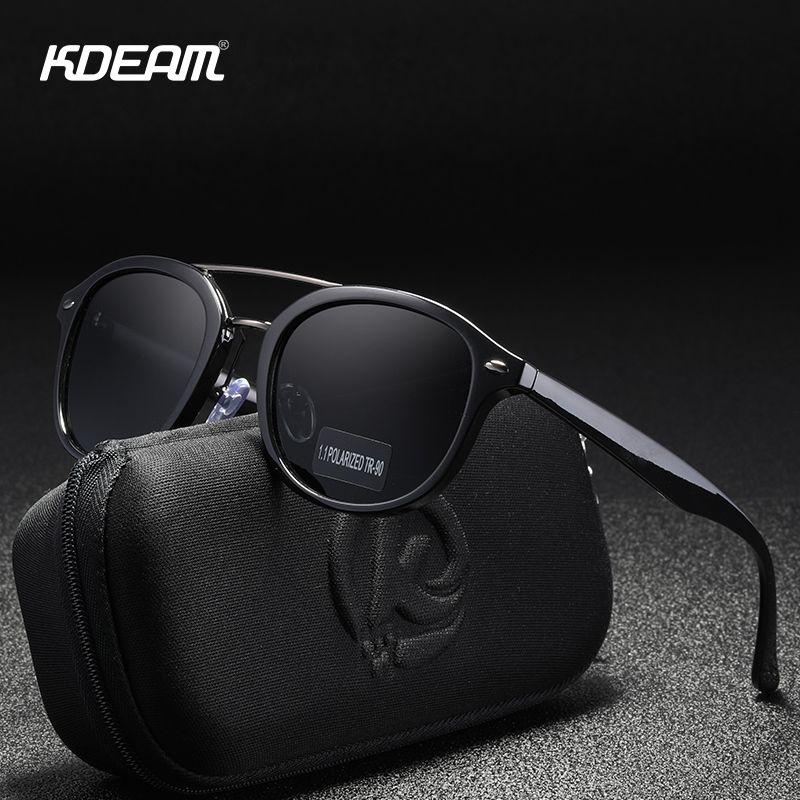 KDEAM double pont design Polarized lunettes de soleil TR90 Qualité Voyager Lunettes de soleil Femmes Lovers Shades Lunettes de soleil MX200619