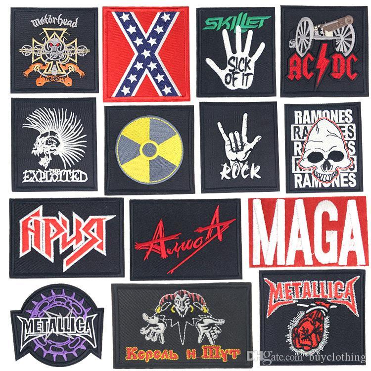ROCK BAND Bricolage Clothe broderie PUNK POP MUSIC Patch Applique Vêtements de repassage Fournitures de couture Badges décoratifs Patches