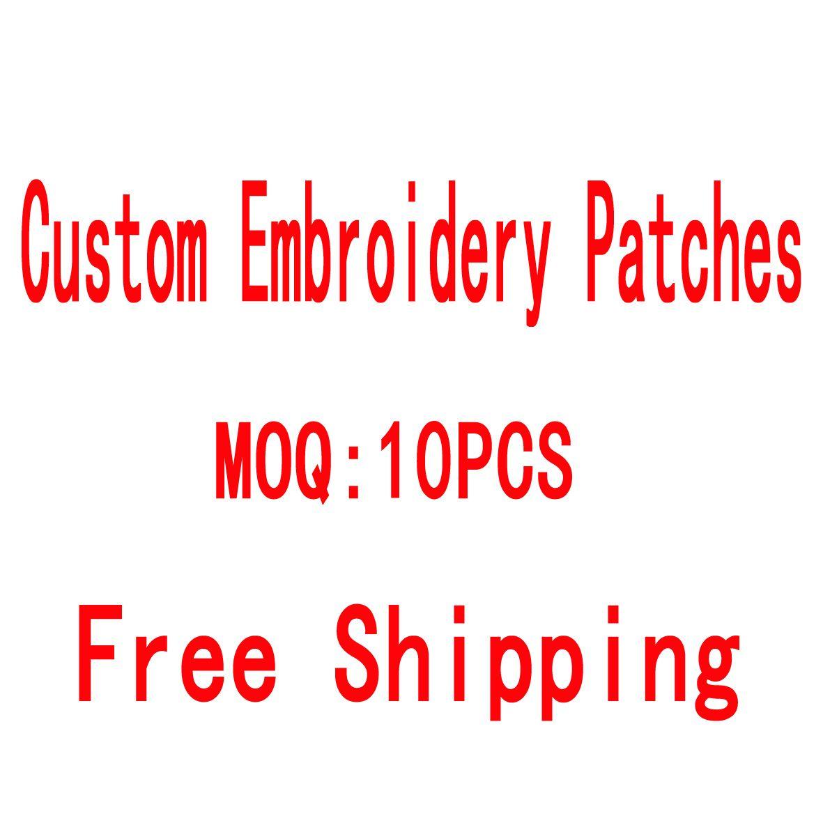 Mais barato design de bordado de design personalizado qualquer tamanho Qualidade de logotipo patches bordados fornecedor preço por atacado frete grátis