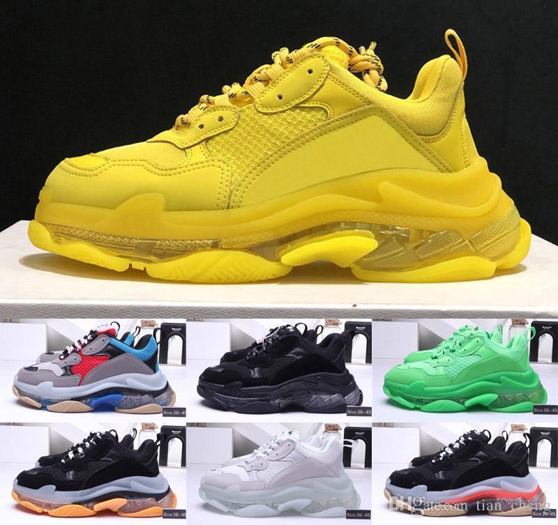 2020 Triple S Designer Sneakers Triple-S 3.0 Herren Freizeitschuhe Luxus Dad Schuhe Weinlese Kanye Old Grandpa tripler Frauen des chaussures