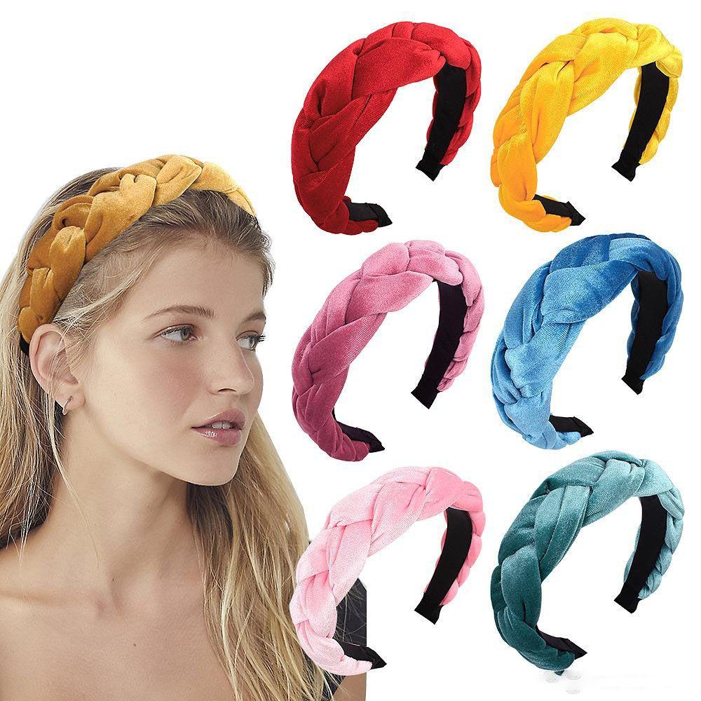 Knot Hairband Headbands Velvet Twist Hair Sticks Head Wrap Headwear for Girls Hair Accessories Women Kids Braid Hair Sticks 20 Styles