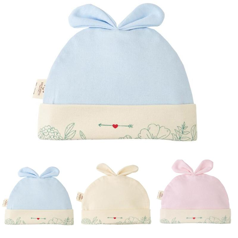 Solid Cotton Newborn Baby Tire Caps With Ear Girls Boys Sun Hats With Bow 2020 Spring Summer Baby Girls Clothing Accessories