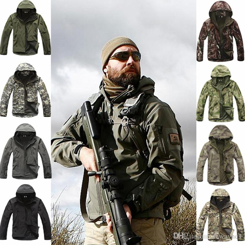 Outdoor Sports Shark Skin Soft Shell Camo Jacket Pants Men Hiking Hunting Waterproof Clothes Camouflage Tactical camping fishing clothing