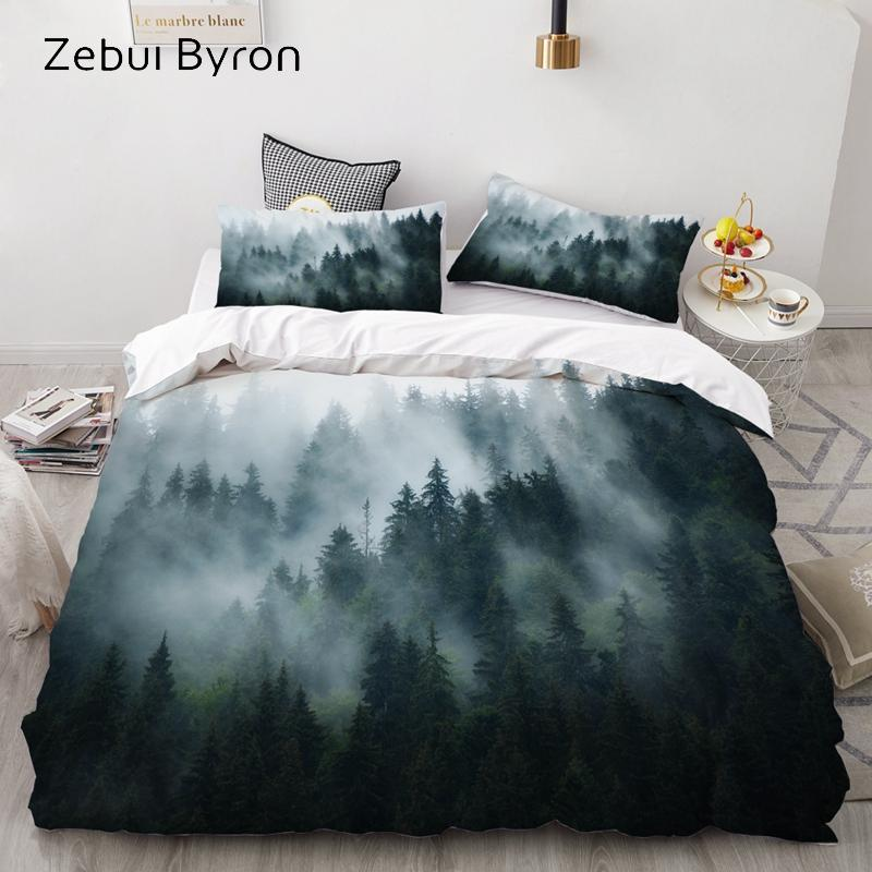 twin queen bedding sets 3d quilt duvet cover pillowcase set flowers printing HD