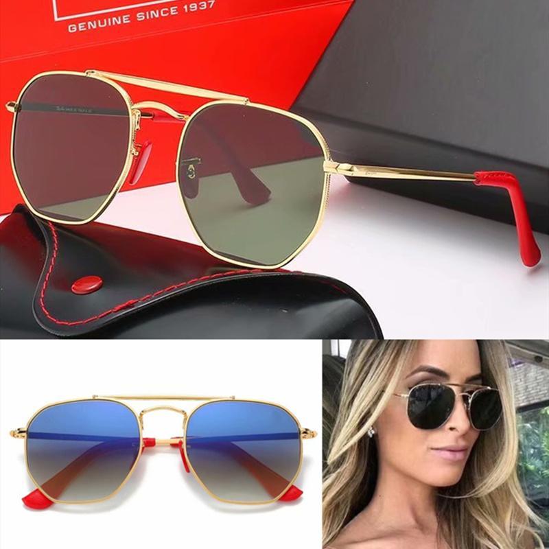 تصميم العلامة التجارية 2020 حار بيع الأزياء نظارات شمس رجل إمرأة نظارات شمس القيادة نظارات UV400 إطار نظارات معدنية بولارويد زجاج عدسة 3648F