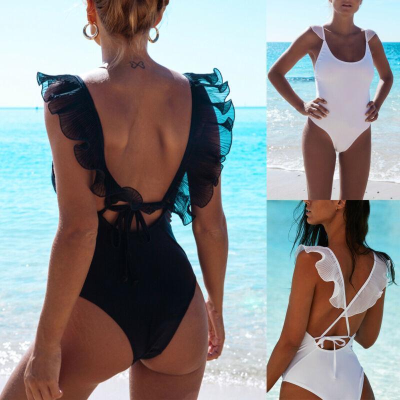 2020 Nouveau Sexy Femmes D'Une Seule Pièce Monokini Bikini Push Up Maillot De Bain Maillots De Bain De Bain Beachwear