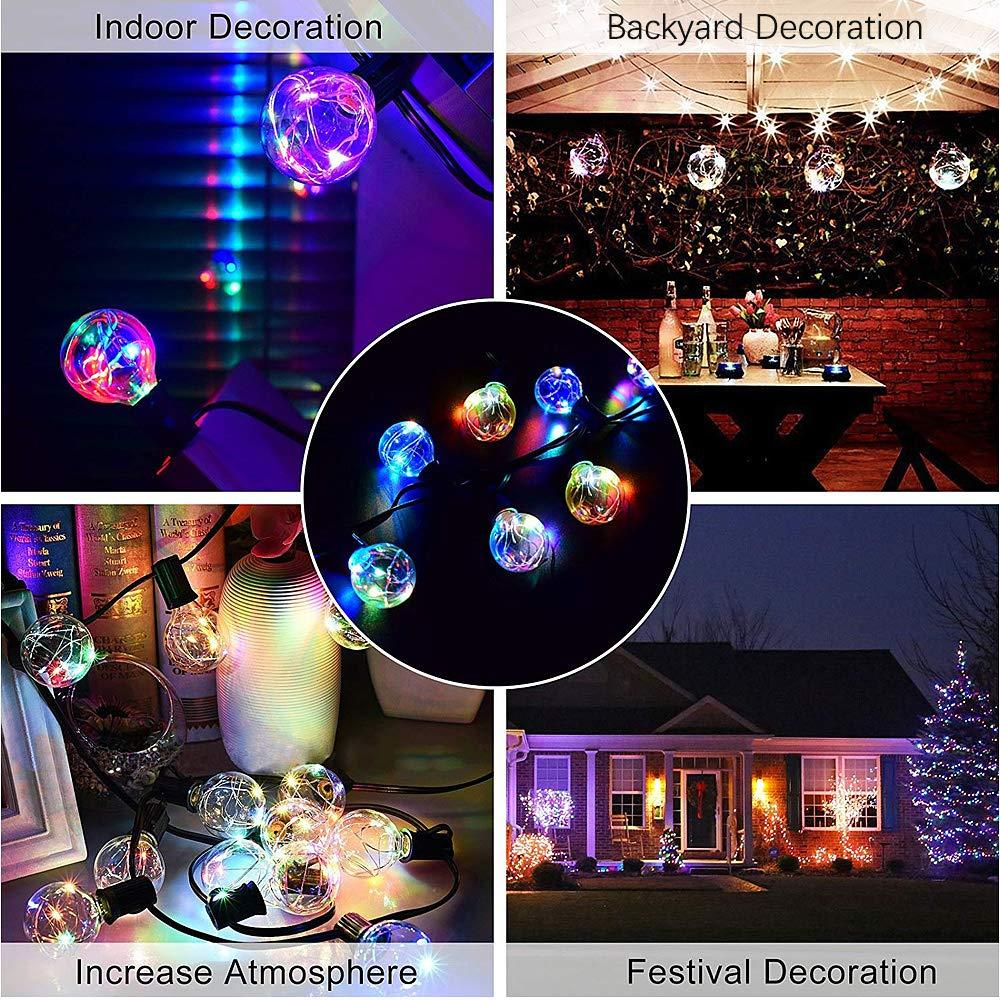 Global Light String 33FT G40 UL Waterproof Outdoor String Christmas Wedding Garden Party LED Ambient Light String