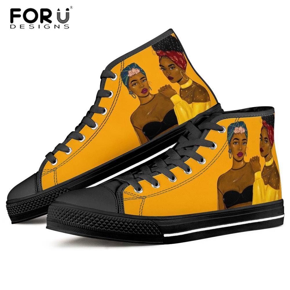 FORUDESIGNS Afro Girls Black Art Women