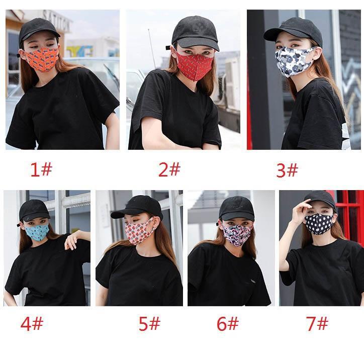 Mulheres Homens Print Designer Máscara Facial Dustproof Mouth máscara Outdoor reutilizável Protetive Máscara DHL Shipping XHH9-3019