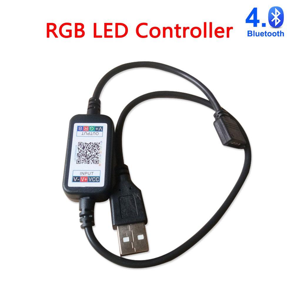 5-24V USB RGB Bluetooth Wifi Controlador APP 5V 12V 24V RGB Controle Remoto para Luzes Luzes Luzes 5630 5050 3528 2835