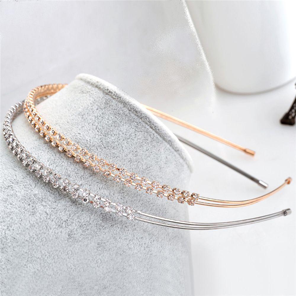 1PC Hot Sale Women Ladies Hair Hoop Fashion Crystal Rhinestone Pearl Hairband Headband Head Piece Hair Band Accessories