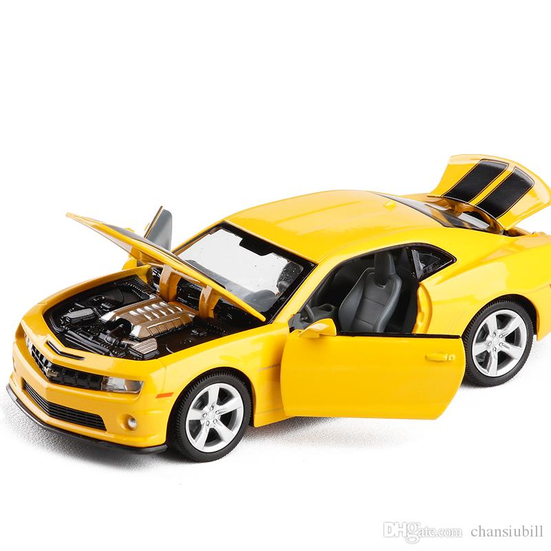1:32 Scale Licensed Luxury Diecast Alloy Metal Car Model For Chevrolet Camaro Collection Vehicle Model Pull Back Toys Car