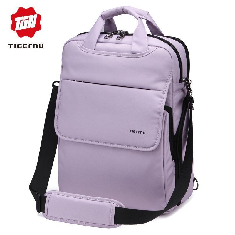 Tigernu متعددة الوظائف للمرأة الوردي أنثى حقيبة الظهر نمط أزياء الشباب الكتف 14.1 كمبيوتر محمول حقيبة مدرسية للبنات المراهقين بنين