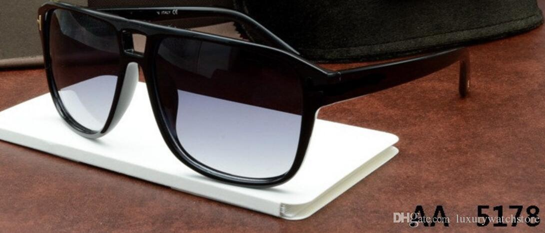 5179 Top qualité New Lunettes de soleil mode Tom Homme Femme Lunettes de soleil Lunettes Designer Marque Ford 5178 0392