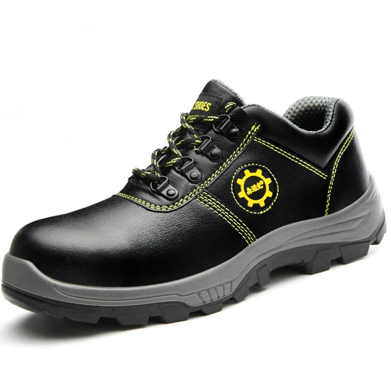 la mode des hommes de luxe grande taille embouts en acier travaillent chaussures de sécurité bottes véritables de sécurité des travailleurs en cuir Zapatos de Seguridad protéger