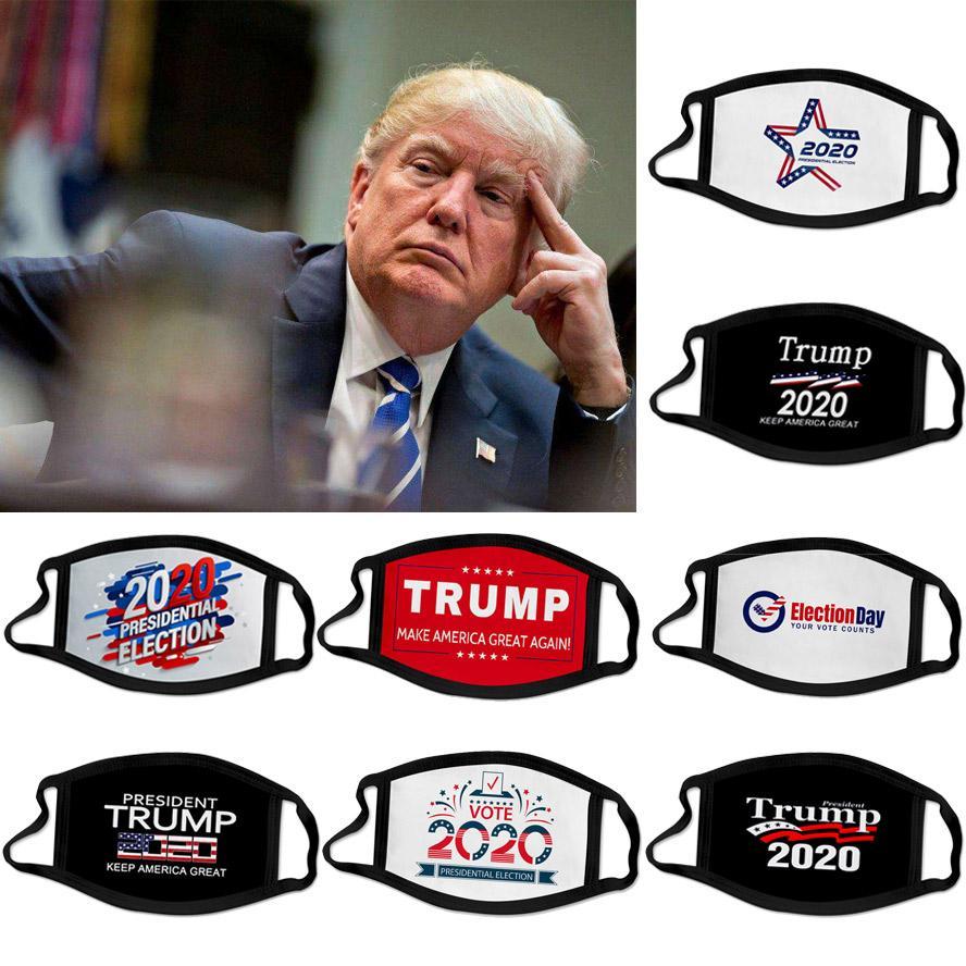 máscara novo designer 2020 Trump campanha presidencial reutilizáveis cara preta máscaras Trump máscara de impressão de protecção Dustproof máscara boca