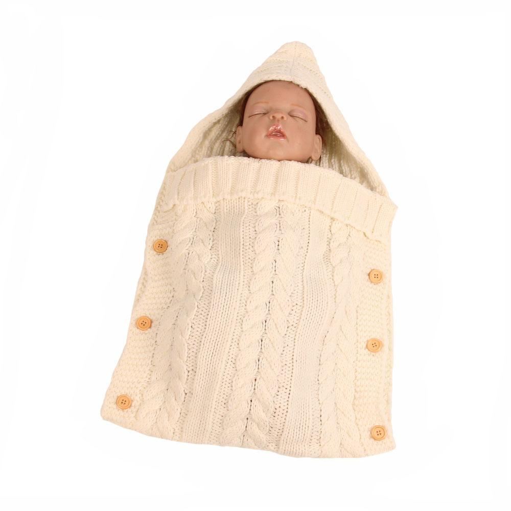 Hiver bébé Sac de couchage pour bébé Knit Enveloppes Pull Sac Nouveau-né Photographie Swaddle Sac de couchage pour enfants Toddle Garçon Fille
