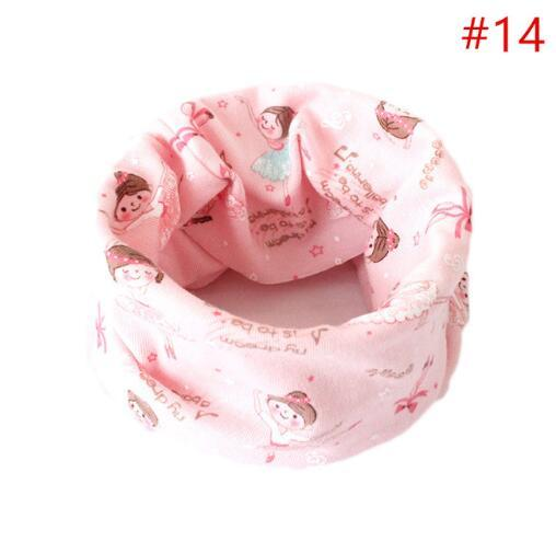 Children Warm Scarves Autumn Winter Baby Cotton Neck Scarf Print Kids Collar New