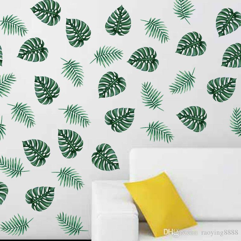 Palm Leaf Removable Wall Decals Sticker Kids Baby Bedroom Room Decoration DIY