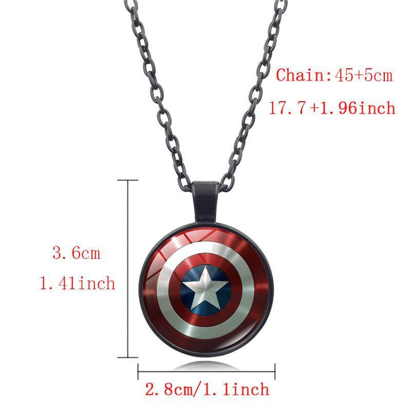 Европа и Америка фильм сопутствующих товаров Marvel Heroes Америка Капитан пятиконечная звезда щит время камень кулон ожерелье