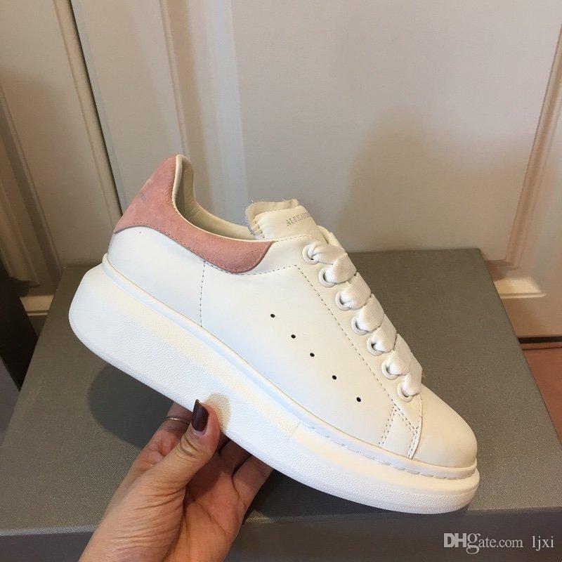 2019scarpe da uomo di Design di Lusso calzado de las mujeres zapatillas de deporte de la plataforma zapatos casuales scarpe oro size35-44 MQ