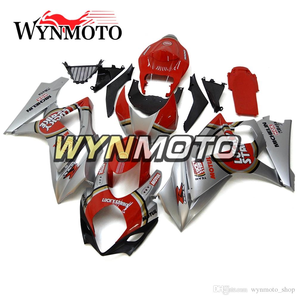 Silver Red Covers Motorcycle Fairings For Suzuki GSXR1000 K7 2007 2008 ABS Plastic Injection gsxr 1000 07 08 motorbike Covers cowlings