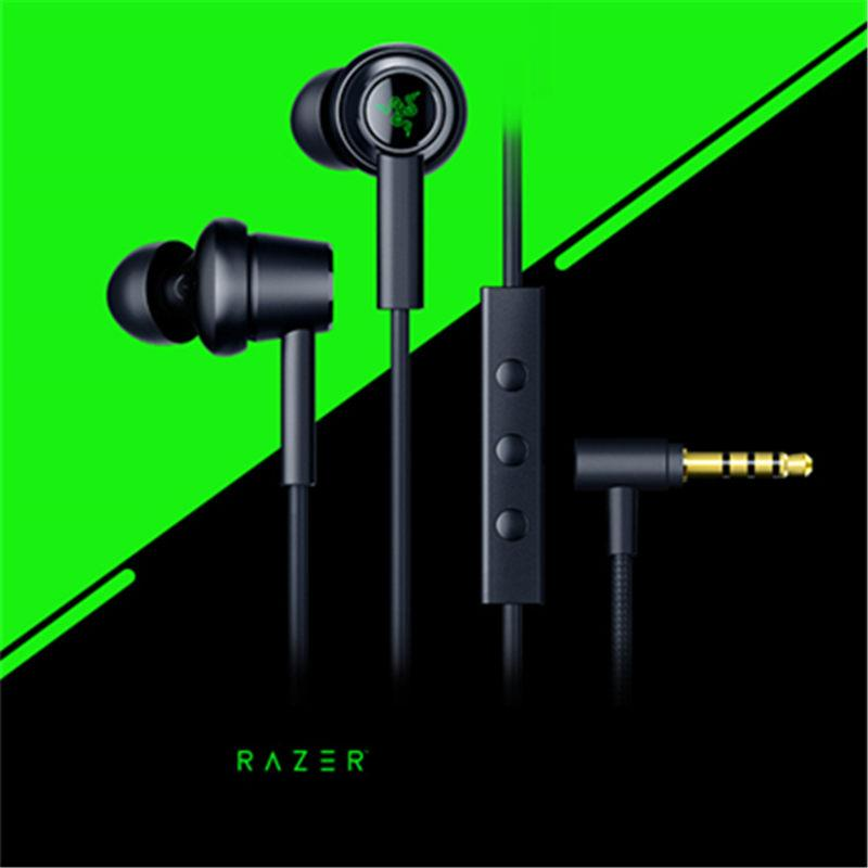 Razer Hammerhead Duo Cell Phone Earphone Dual-core Headset Wired In-Ear Universal With Microphone Game Earphone Accessories