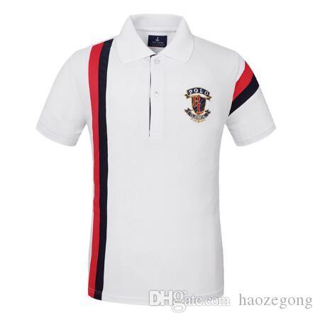 Mode-Männer Polo-Hemd Golf Polo-T-Shirt für Männer tragen Kurzarmshirts Tees Training Exercise Trikots Wandern Shirts