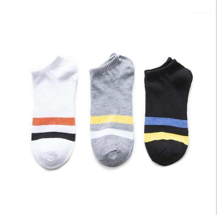 Çorap Yaz Emici Tasarımcı Spor Nefes Deodorant Çift Tekne Çorap Feamles Moda Casaul Underwears Kadın Çizgili Ter