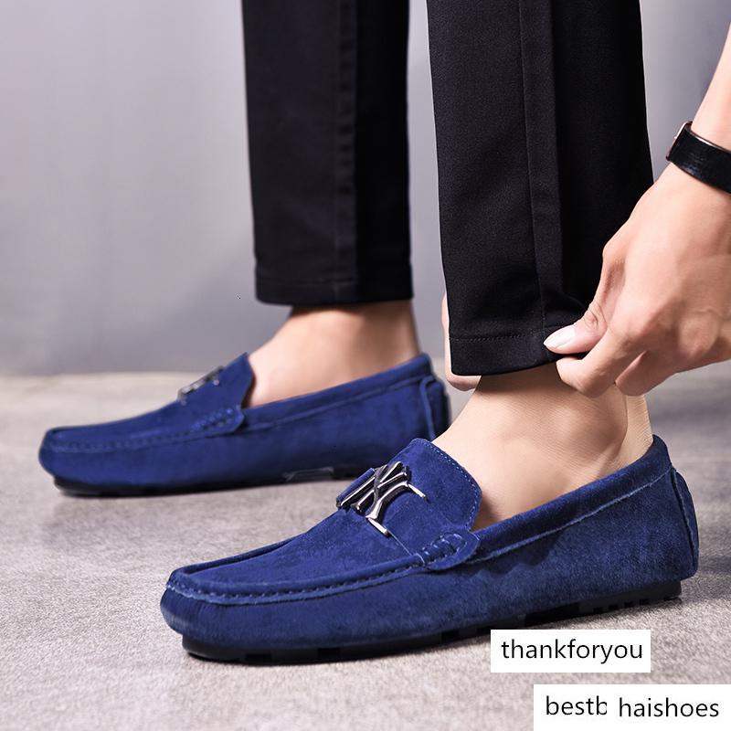 أحذية تريند جديد رجل كسول مكافحة زلة رجل متعطل حذاء أحذية مريحة محرك الرجال من الصعب ارتداء الانزلاق على الشقق الأحذية العلامة التجارية
