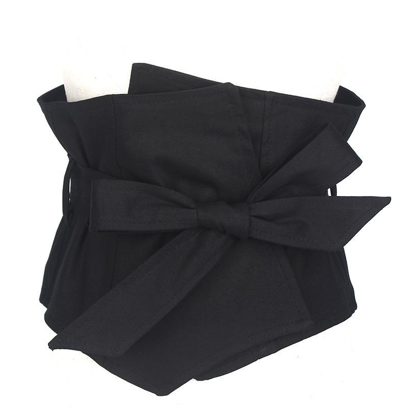 Vestito di marca tessuto donne nero 19cm ampia cintura accessori abito femminile cintura caestus snellente corsetto cinturino cinghie j190701