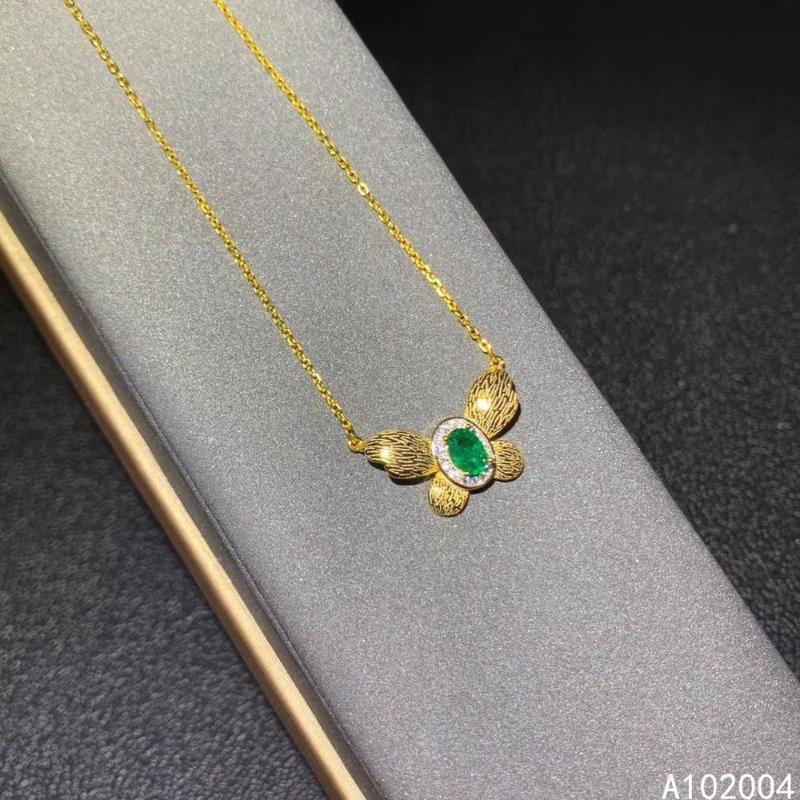 KJJEAXCMY joyería fina plata de ley 925 con incrustaciones de esmeralda natural Mujer collar colgante nueva prueba de apoyo forman la venta caliente