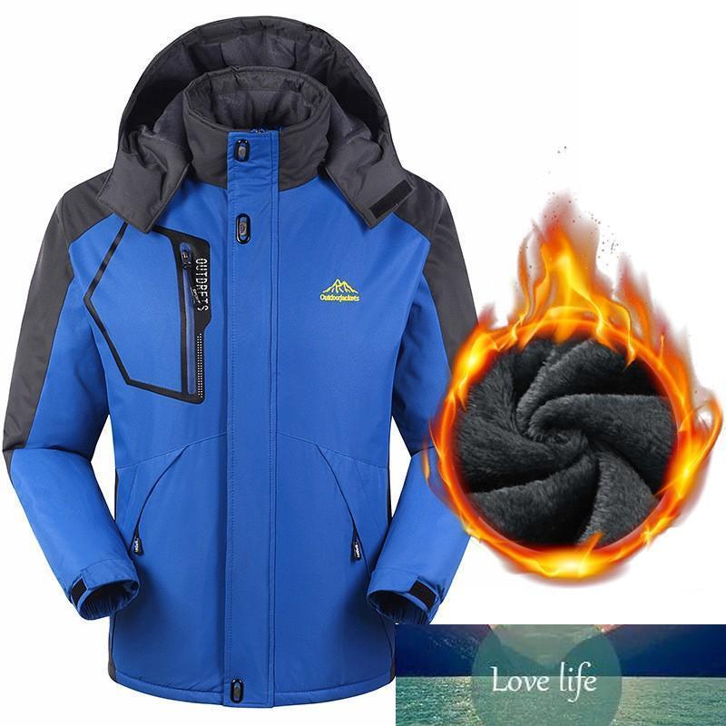 US-Größe Neue Herbst-Winter-Männer Hoodies starke warme wasserdichte Windjacke Anti Kälte Fleecejacke Bequeme Herren Mantel