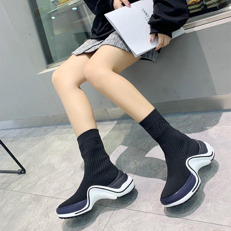 2020 الساخن بيع Archlight كرة القدم الأحذية سوك أحذية الموضة كرة القدم أحذية رياضية أحذية النساء حك سيدة اللباس أحذية الموجة على شكل المتضخم وحيد