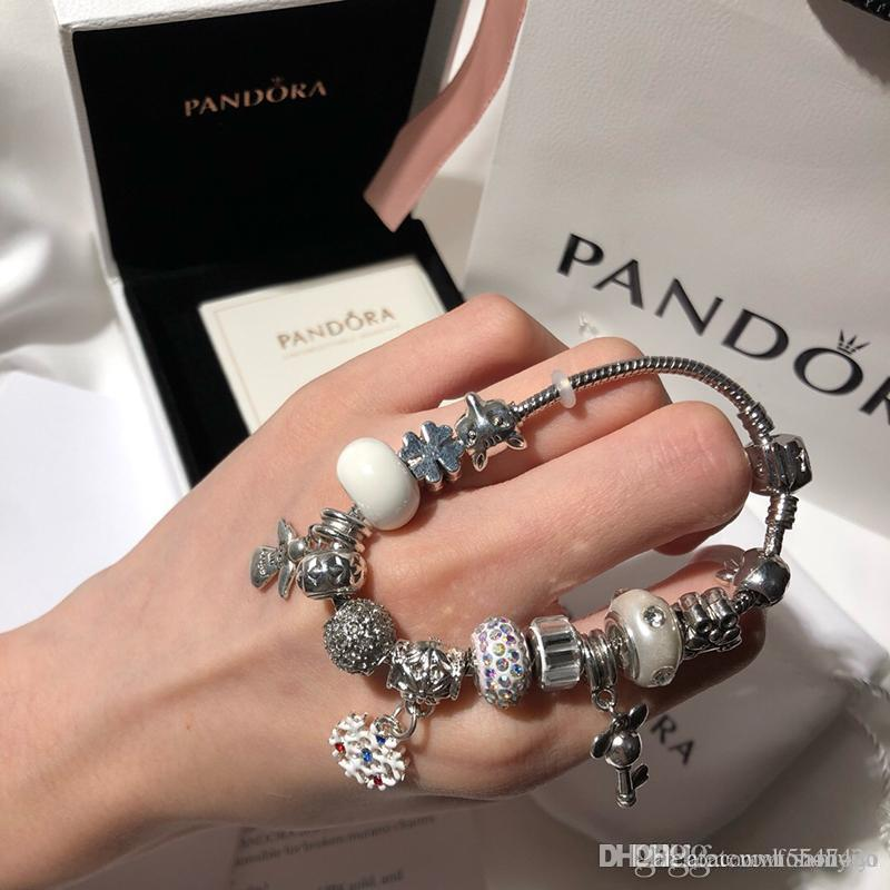 nouvelle Pandora luxe dame vis bijoux alliage bracelet charme des femmes design manchette cadeau bracciali dames Bracciale donna boîte d'origine