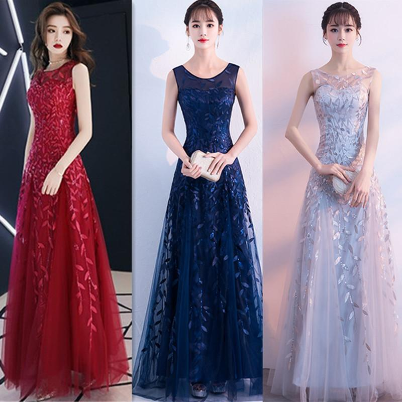 2019 Brides Toast Sexy Wedding Back-door Banquet Women Party Host Dinner Dress Formal Wear Long Skirt QC0296
