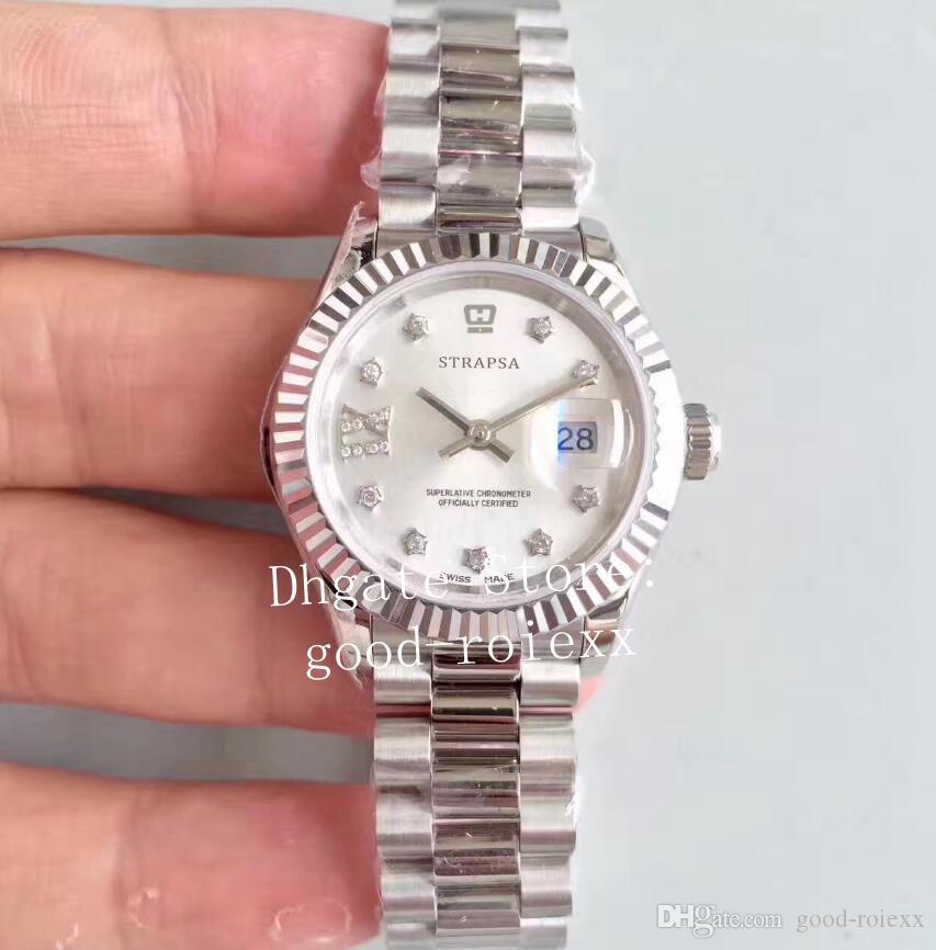 28mm senhoras relógios automáticos tw relógio de fábrica ETA 2671 movimento 279160 ladys 279166 279174 279171 mulheres perpétuas data relógios de pulso
