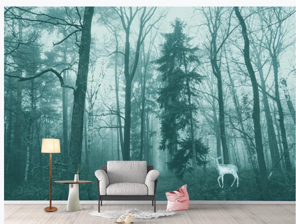 3d peintures murales papier peint panoramique paysage naturel bambou forêt paysage peinture salon TV fond mur