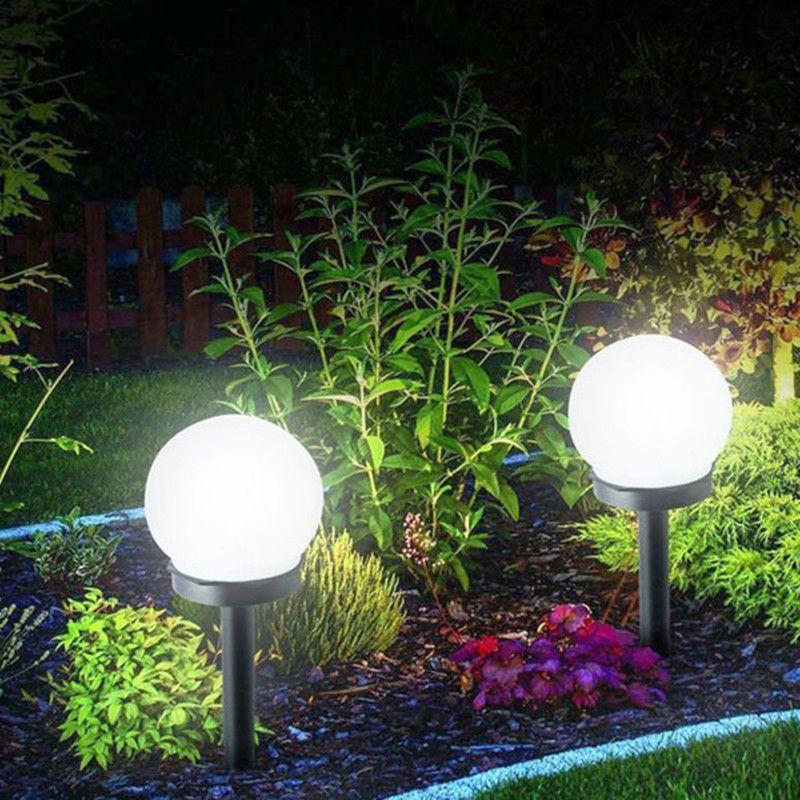 Led Solar Energy Powered Bulb Lamp 33cm Waterproof Outdoor Garden Street Solar Panel Ball Lights Lawn Yard Landscape Decorative Lights