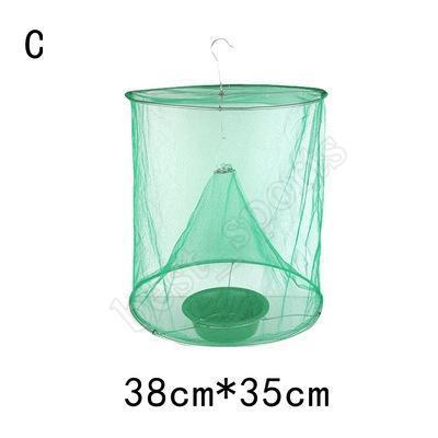 قابلة لإعادة الاستخدام الخضراء الحشرات فخ الأخطاء ECO تعليق ذبابة الماسك قفص نايلون شبكة أداة في الهواء الطلق مكافحة الحشرات ZZA735