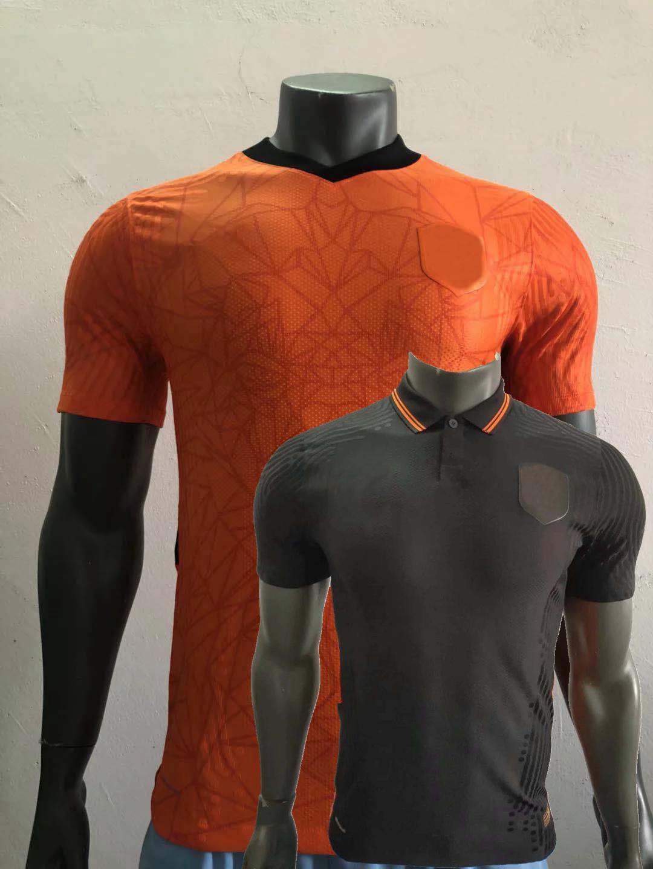 Player versão 20 21 Netherlands camisa de futebol da equipe nacional F.DE JONG Memphis de Ligt 2020 2021 camisa de futebol Sports jogador Jerseys