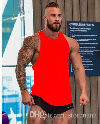 Nosotros 2019 GYM VEST nuevo caliente de los hombres sin mangas poliéster gimnasio deporte culturismo superior del tanque chaleco