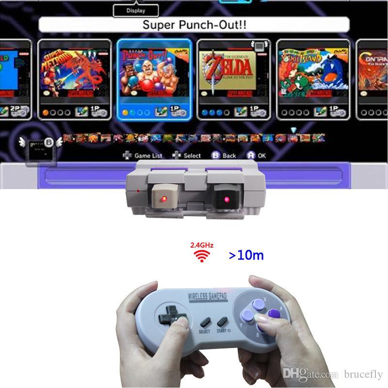 무선 게임 패드 SNES NES를위한 2.4GHZ 조이패드 조이스틱 컨트롤러 클래식 미니 윈도우 IOS 안드로이드 라스베리 파이 콘솔 원격