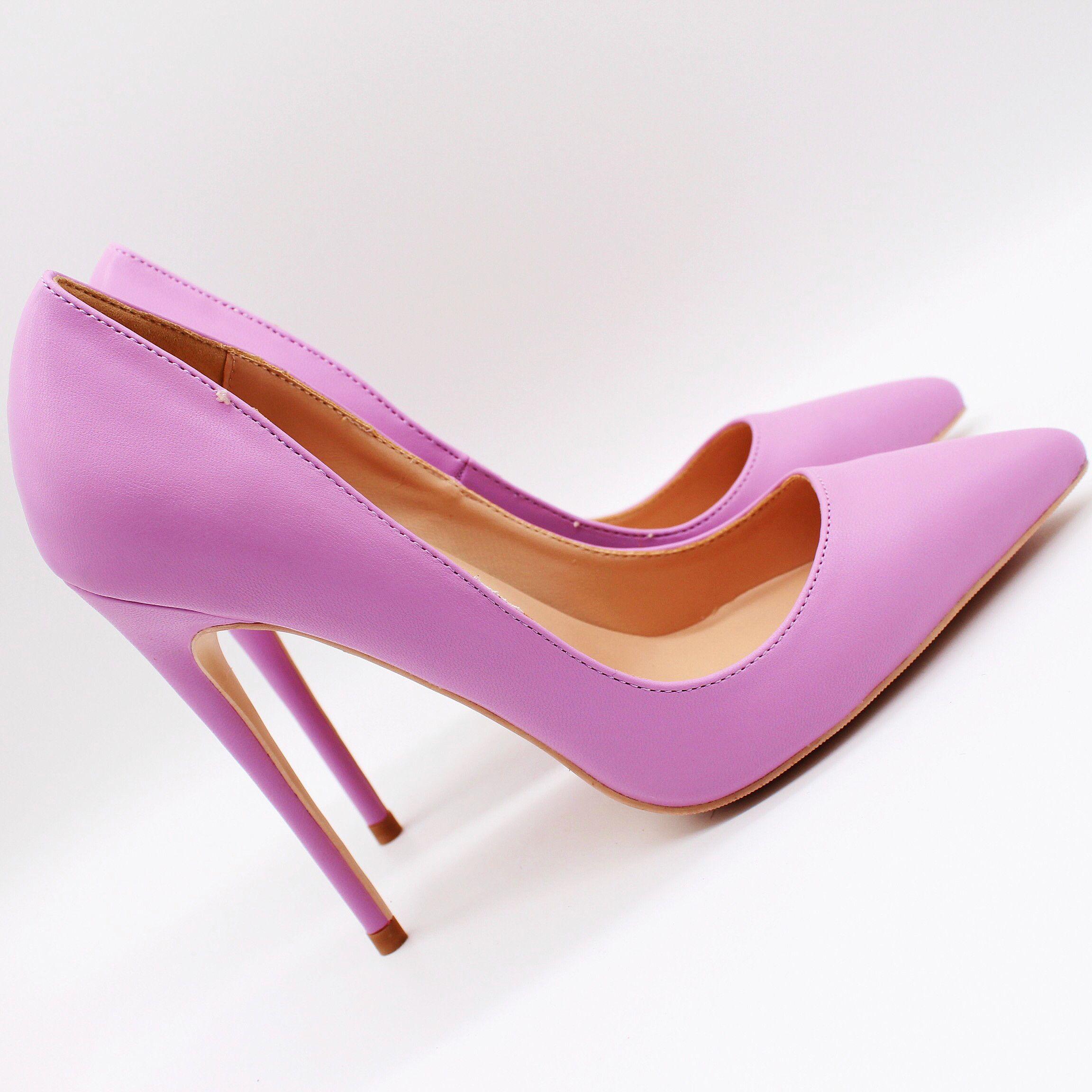 blingbling mulheres sapatos de salto alto stilettos couro roxo mate Ponto toe sexy de salto alto bombas de casamento sapatos de festa bombas de 12 centímetros 10 centímetros oito centímetros praty