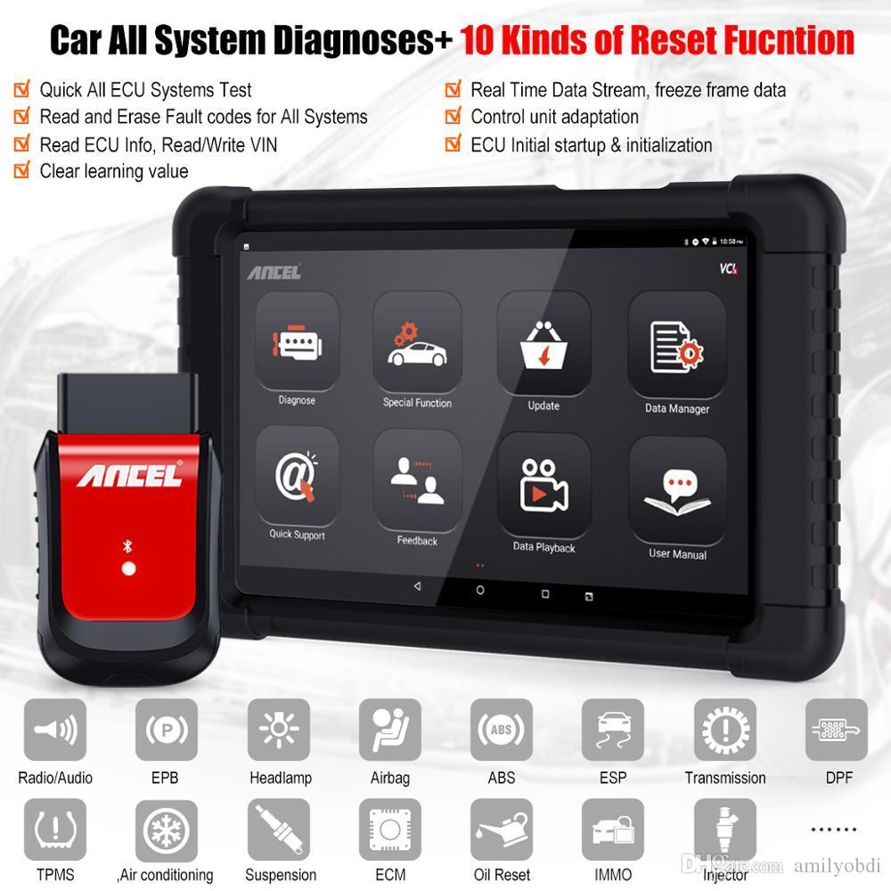 Ancel X6 OBD2 Bluetooth de la exploración de petróleo ABS Airbag Restablecer EPB DPF herramienta de diagnóstico OBD 2 escáner de código de Automoción lector automático de coches