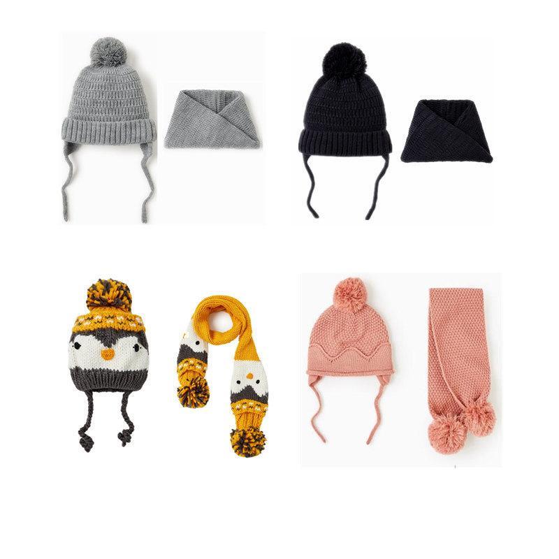 2PCS Mom Mother Baby Kids Cotton Hat Knot Turban Cap Girls Boys Beanie Baggy Cap