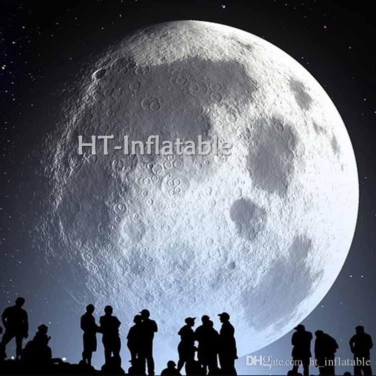 شحن مجاني العملاق القمر الكرة نفخ الكرة العملاقة للنفخ الكرة الأرضية الكرة LED القمر كرات ضوء القمر غلوب