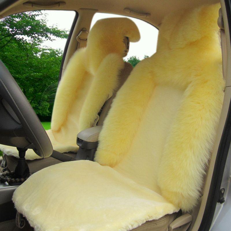Бесплатная доставка зимняя шерсть подушка сиденья автомобиля зима плюшевые подушки четыре сезона вообще шерсть коврик овец аксессуары