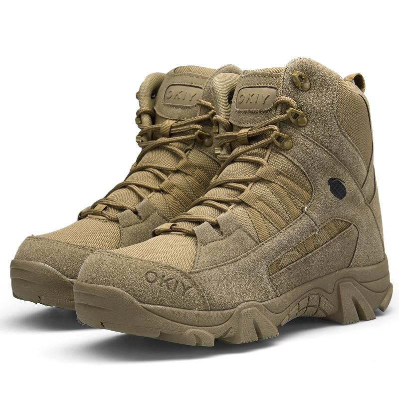 Winter Delta High quality Ultra Light Breathable Tactical Boots Mens Police Army Combat Boots US Army Shoes Desert/Brown size EUR40--45